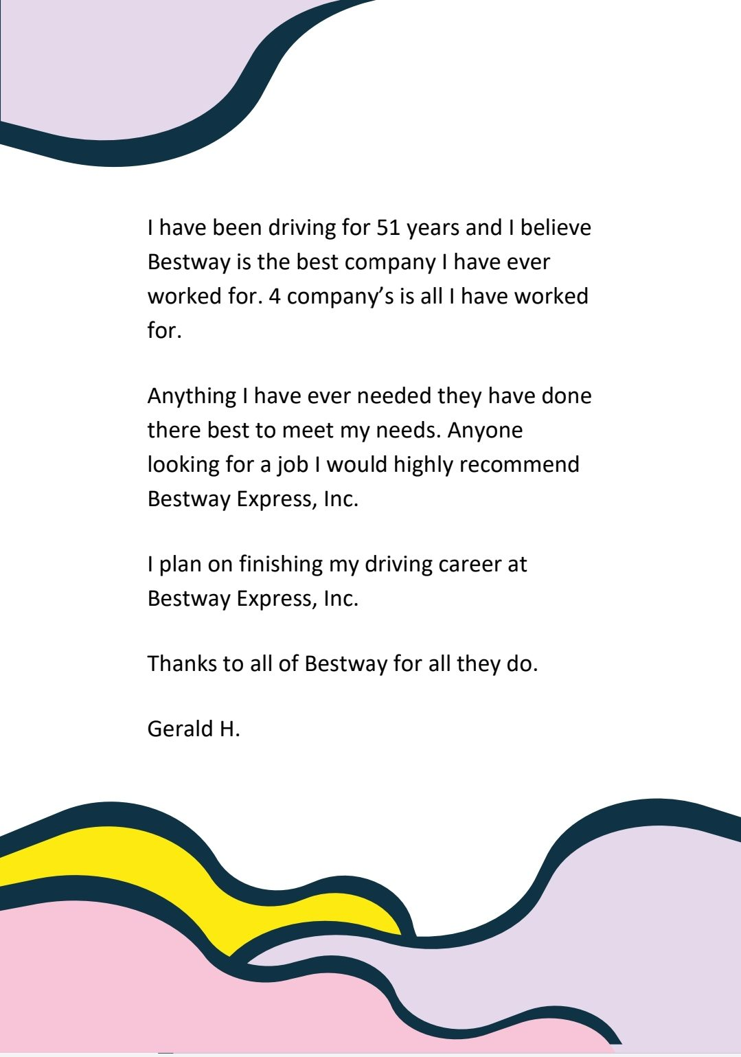 BESTway is more than just our name…